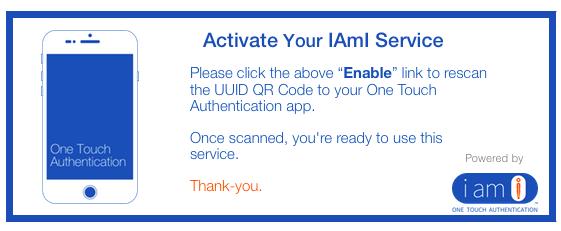 IAmI Activation Notice