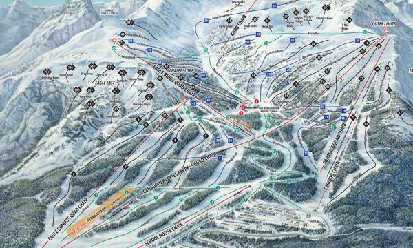 Marmot Basin Piste Map