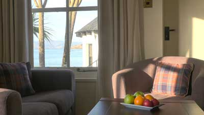 Superior sea view room at The Pierhouse Hotel & Seafood Restaurant