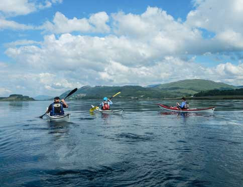World class sea kayaking from The Pierhouse own beach