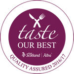 Visit Scotland Taste Our Best Quality Assured 2016-17 Award