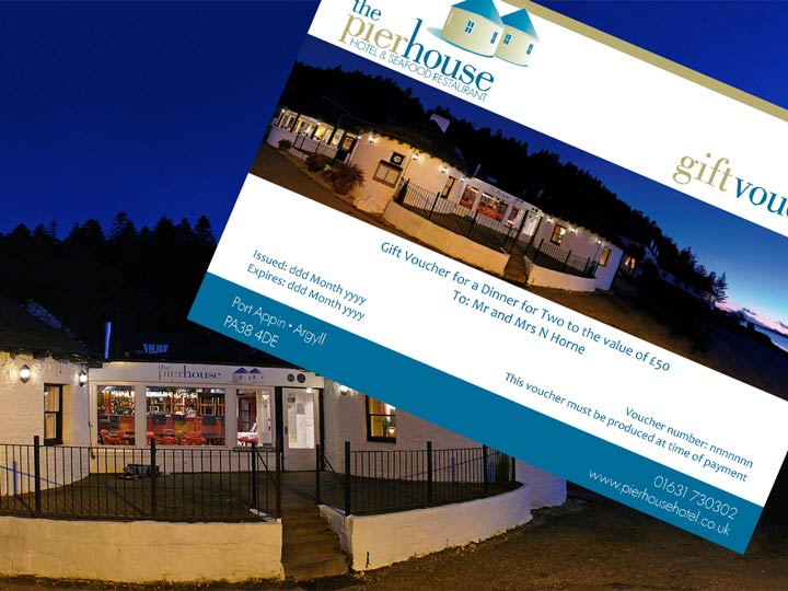 Gift vouchers from The PIerhouse Hotel