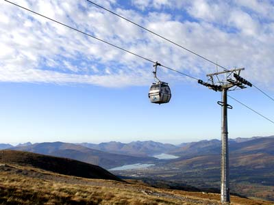 Aonoch Mor and Nevis Range for summer mountain biking and walking