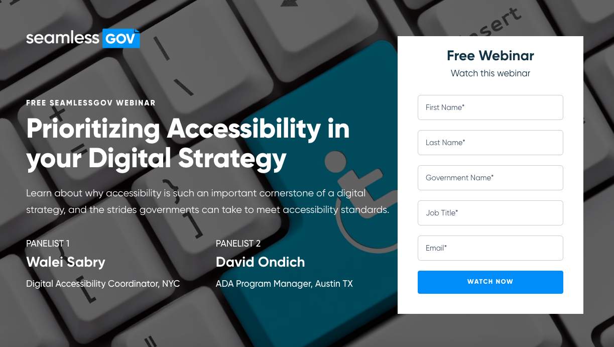 Webinar: Prioritizing Accessibility in your DIgital Strategy