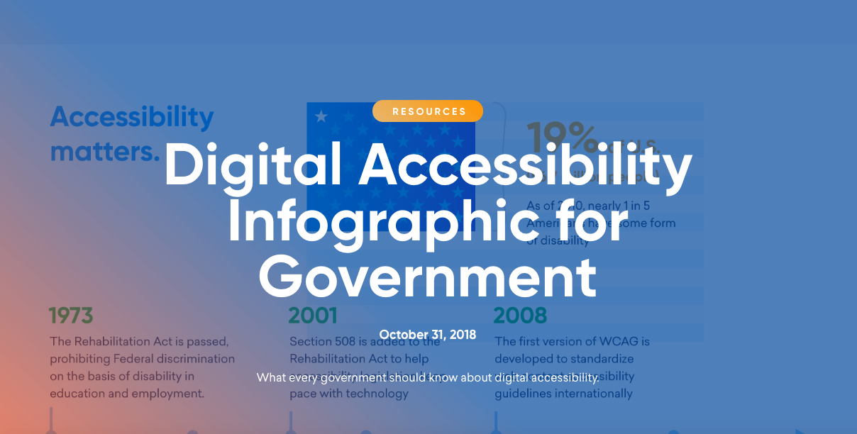 Digital Accessibility Infographic for Government