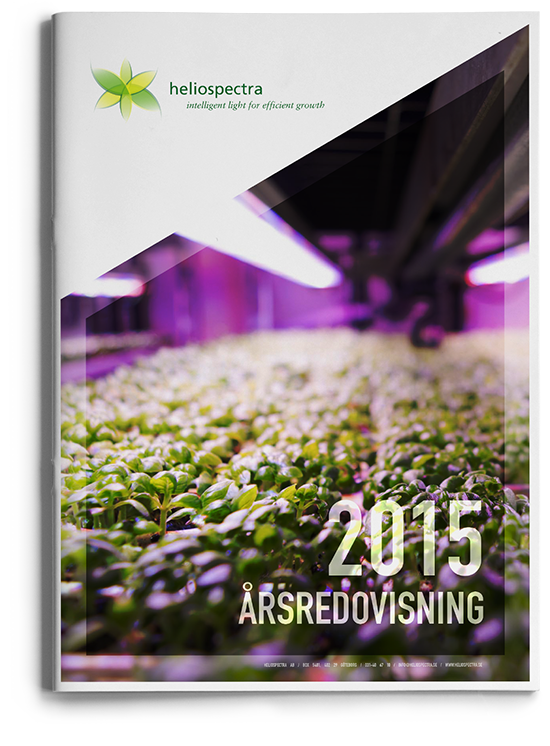 Heliospectra annual report 2015 cover