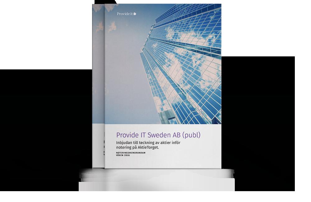ProvideIT investment memorandum cover