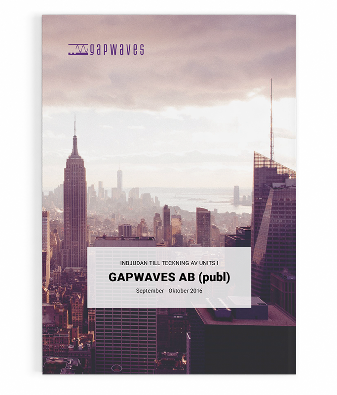 Gapwaves investment memorandum 2016 cover