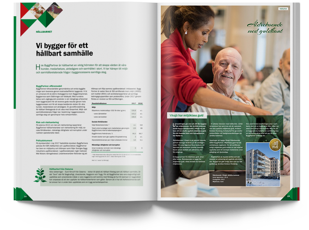 ByggPartner annual report 2017 spread