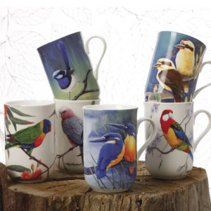 photo of cashmere fine bone china bird of australia mug