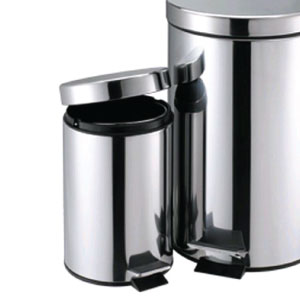 photo of home & living stainless steel foot operated pedal dustbin