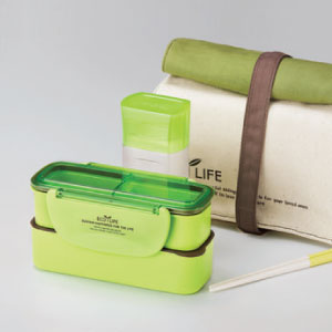 photo of lock&lock bpa free lunch box sets with cutlery and water bottle