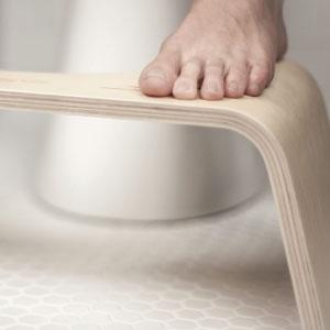 photo of squatty potty happy colon wood 7' toilet stool