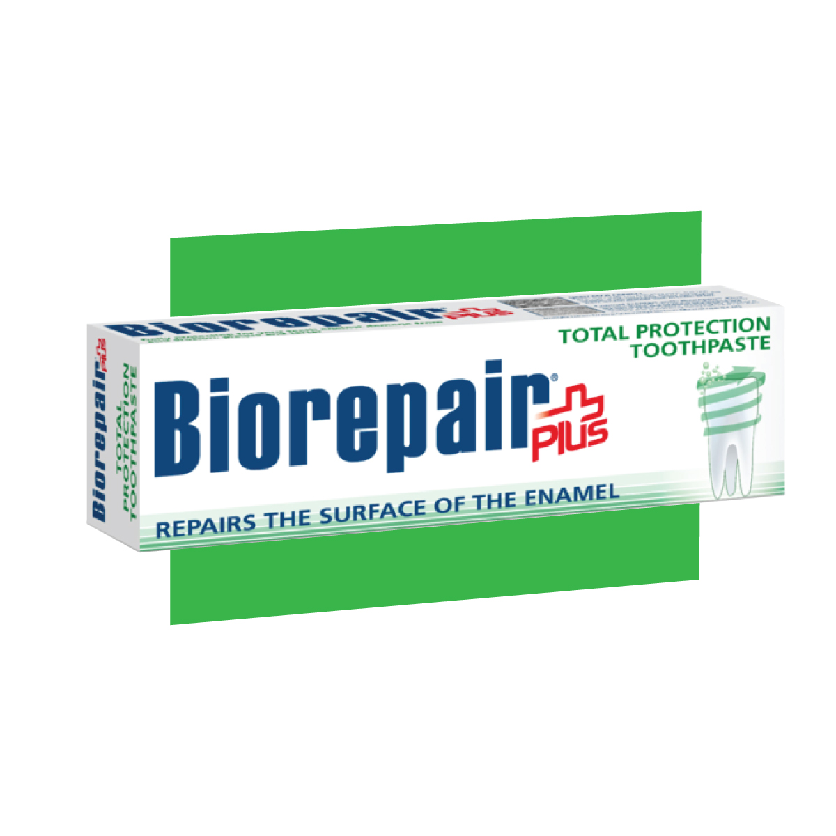 photo of bio repair world only enamel repair total protection toothpaste, happy smile