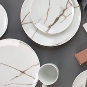 photo of s&p marble dinnerware