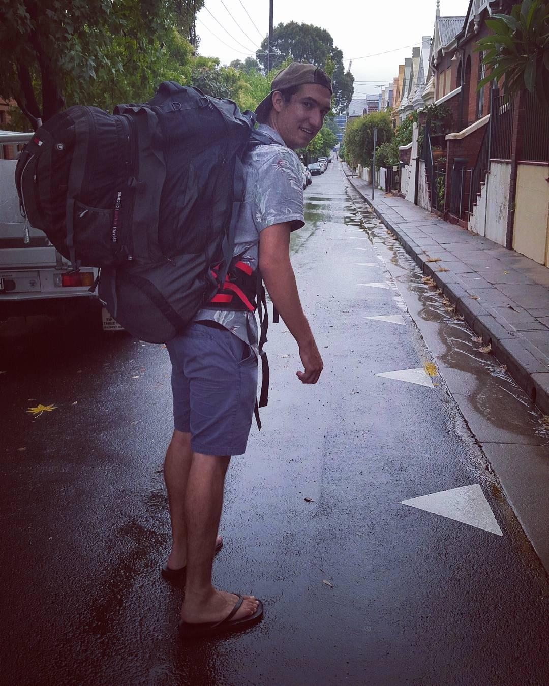Daniel Bury backpacking around the world