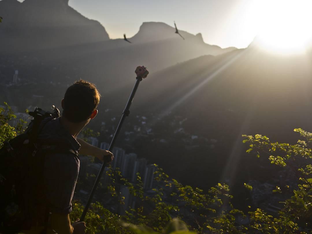 Hiking to the top of Dois Irmãos Mountain, in Rio de Janeiro