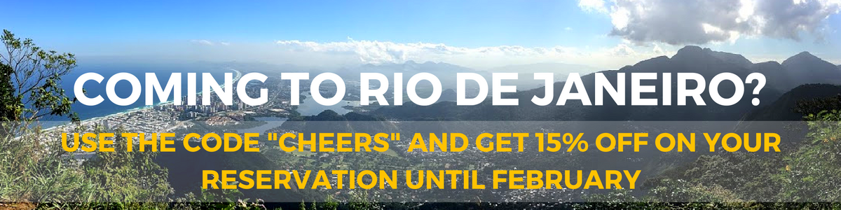 15% discount on accommodation in Rio de Janeiro