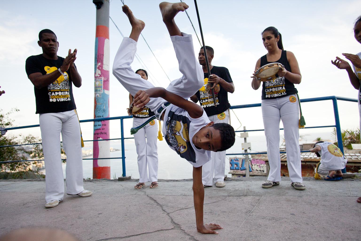Capoeira social project in Vidigal favela in Rio de Janeiro