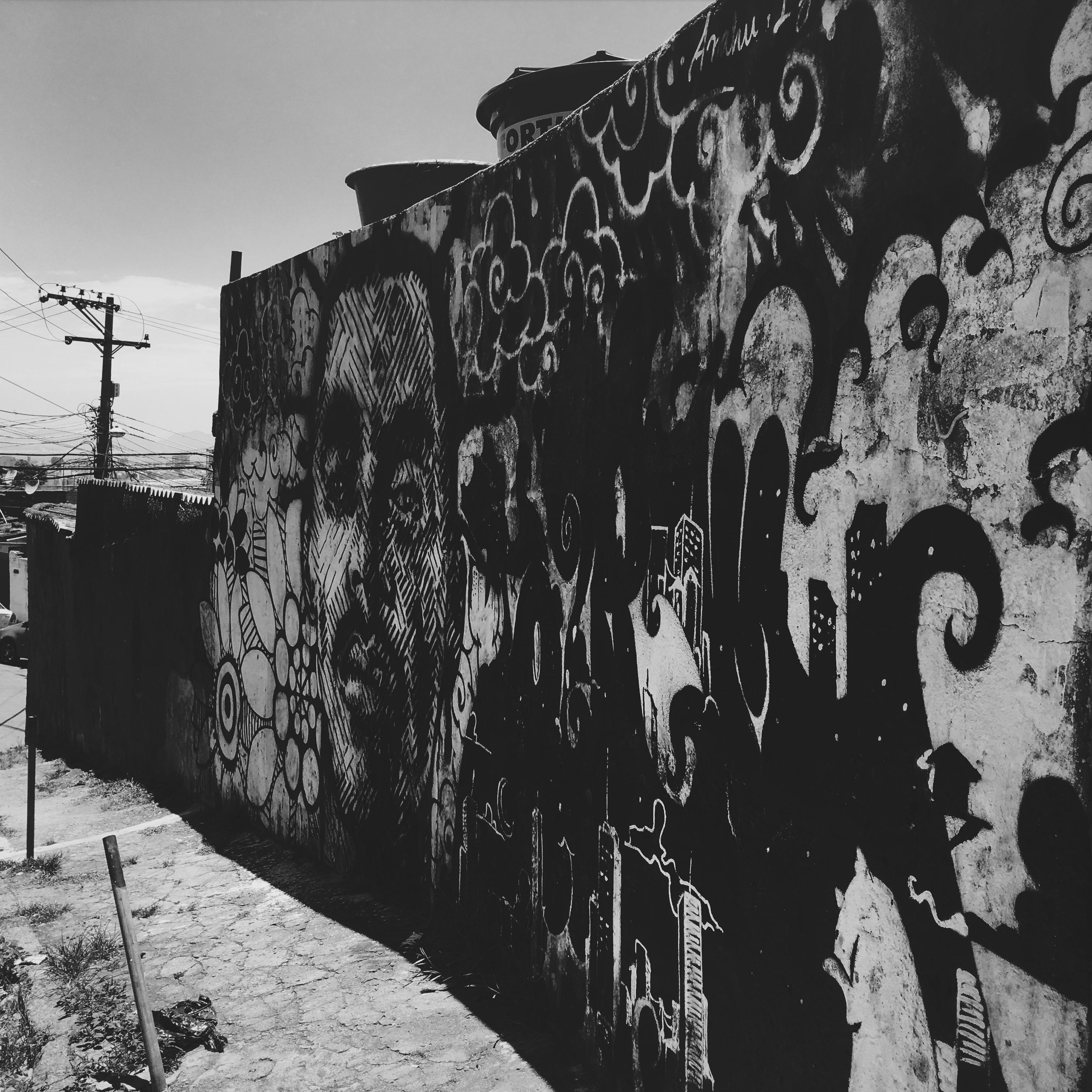 Amazing local graffiti in Vidigal