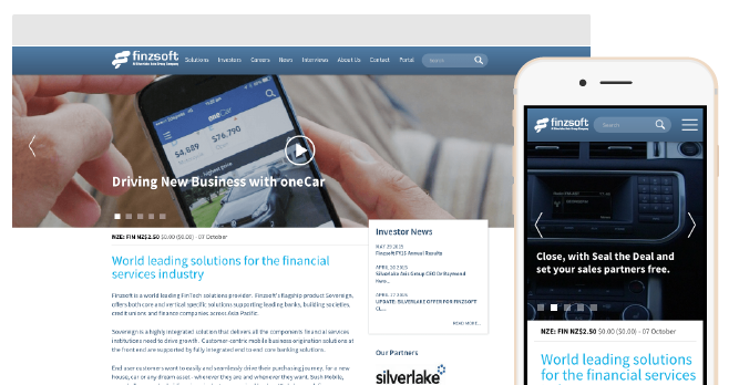 Preview of the Finzsoft responsive website