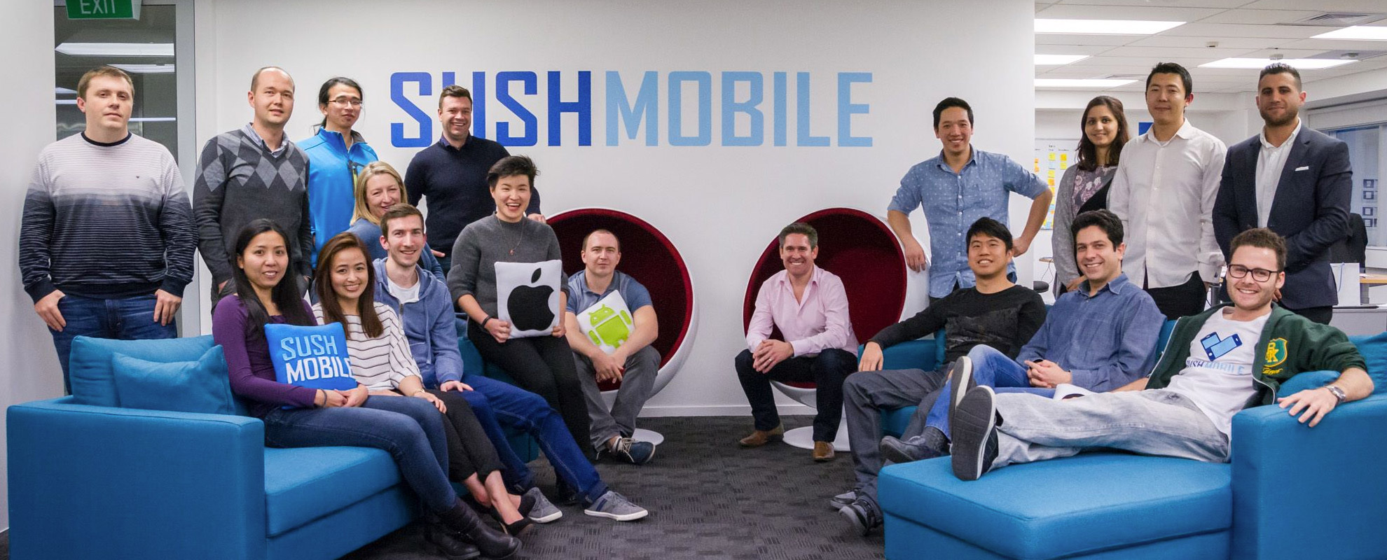 Photo of the Sush Mobile team