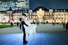 ウェディングドレスを着た花嫁の写真