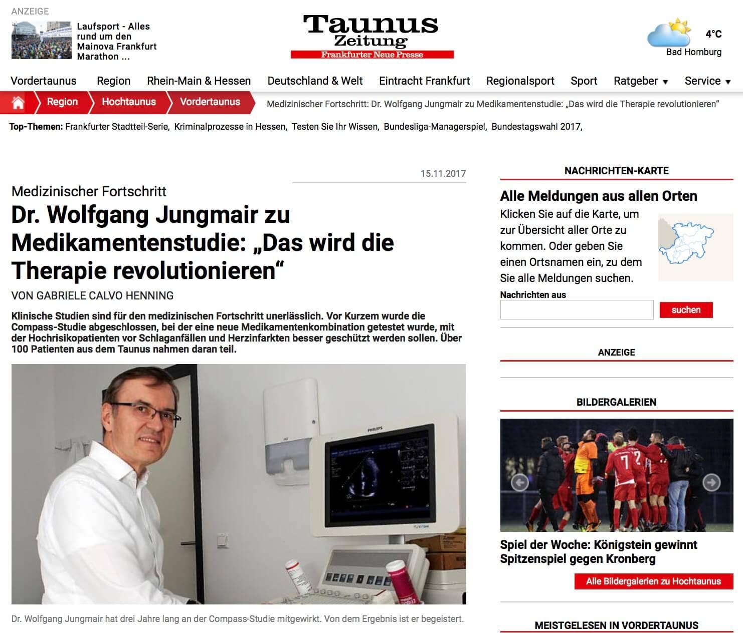 Taunus Zeitung Artikel Jungmair