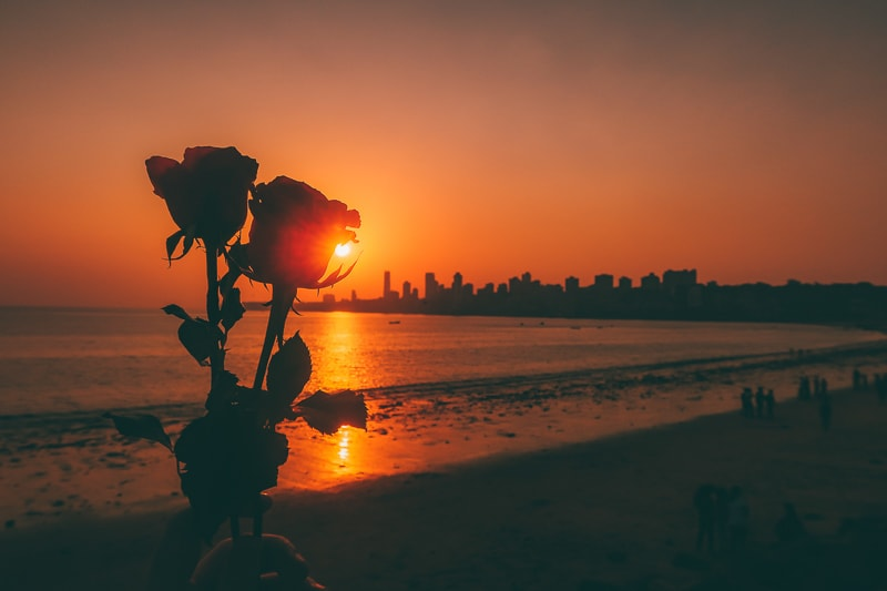 sunset in mumbai