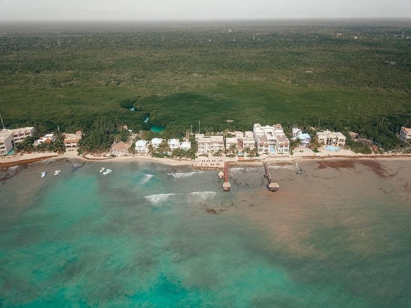 drone shot mexico