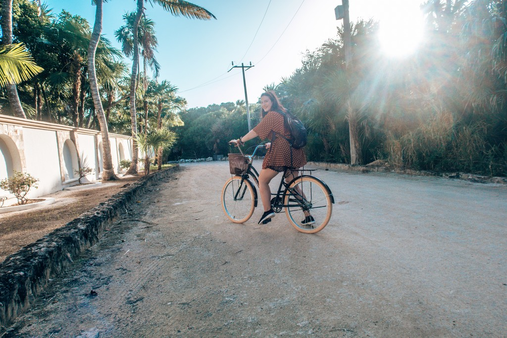 riding a bike in mexico
