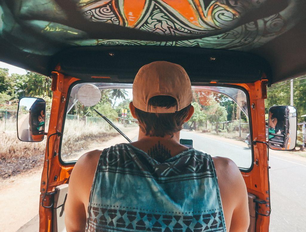 getting around by tuk tuk