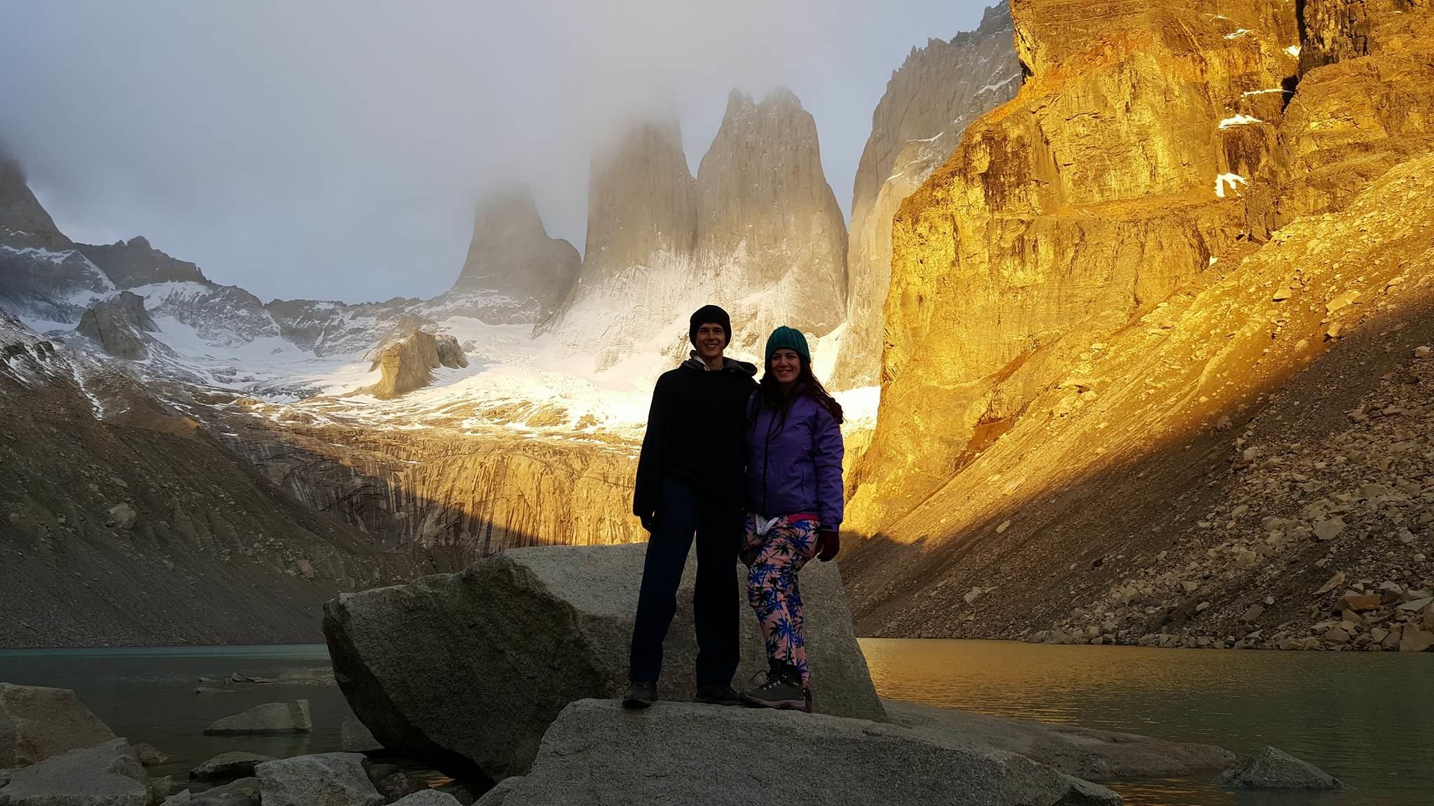 Sunrise at torres del paine national park