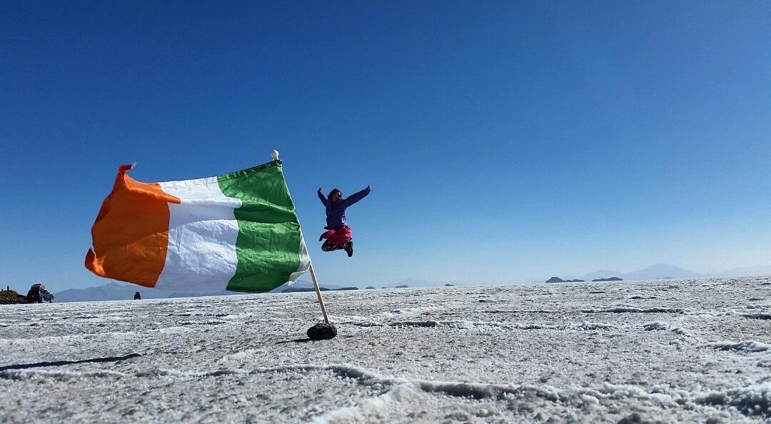Cazzy in Bolivian Salt Flats