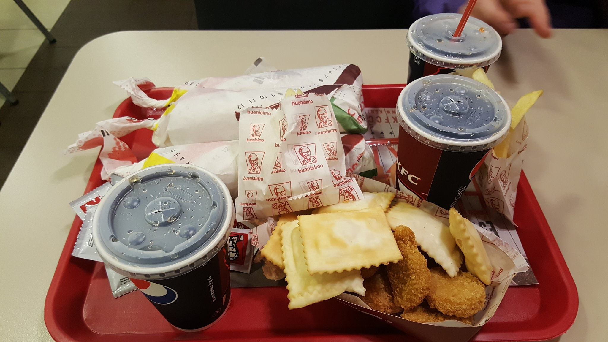 Eating KFC in South America