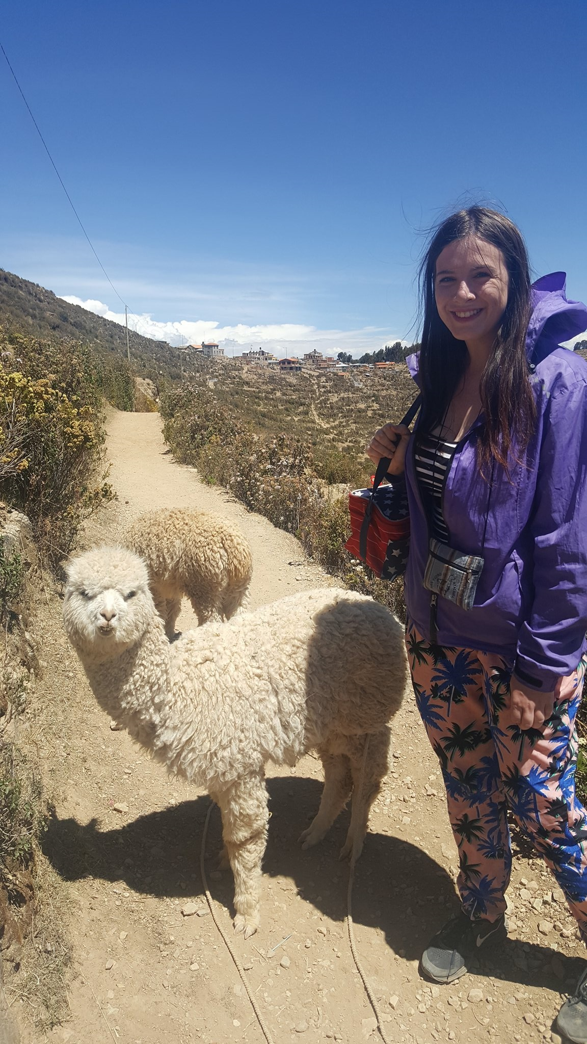 hiking Isla del sol in Bolivia