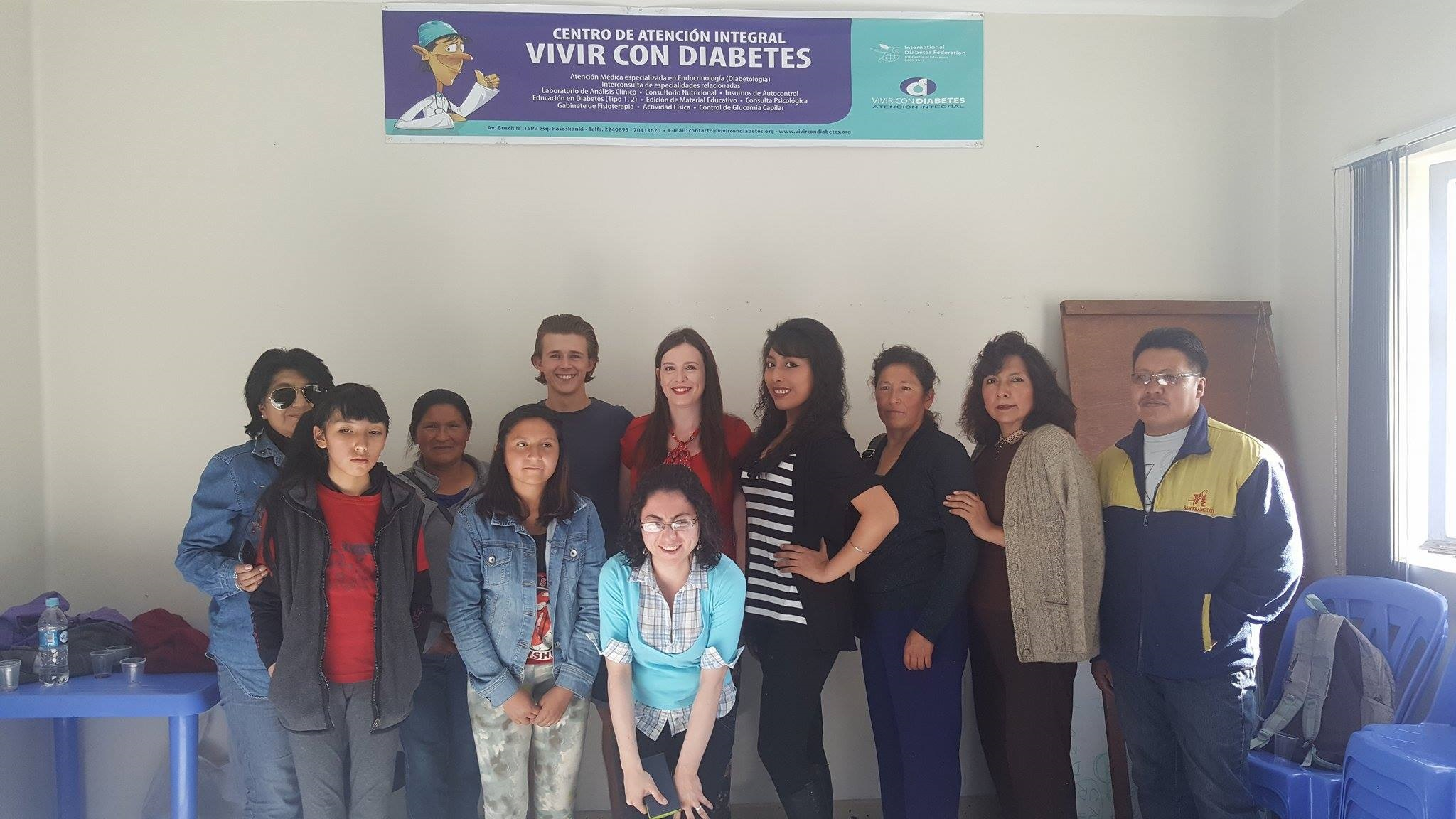 Diabetic charity in Bolivia group photo