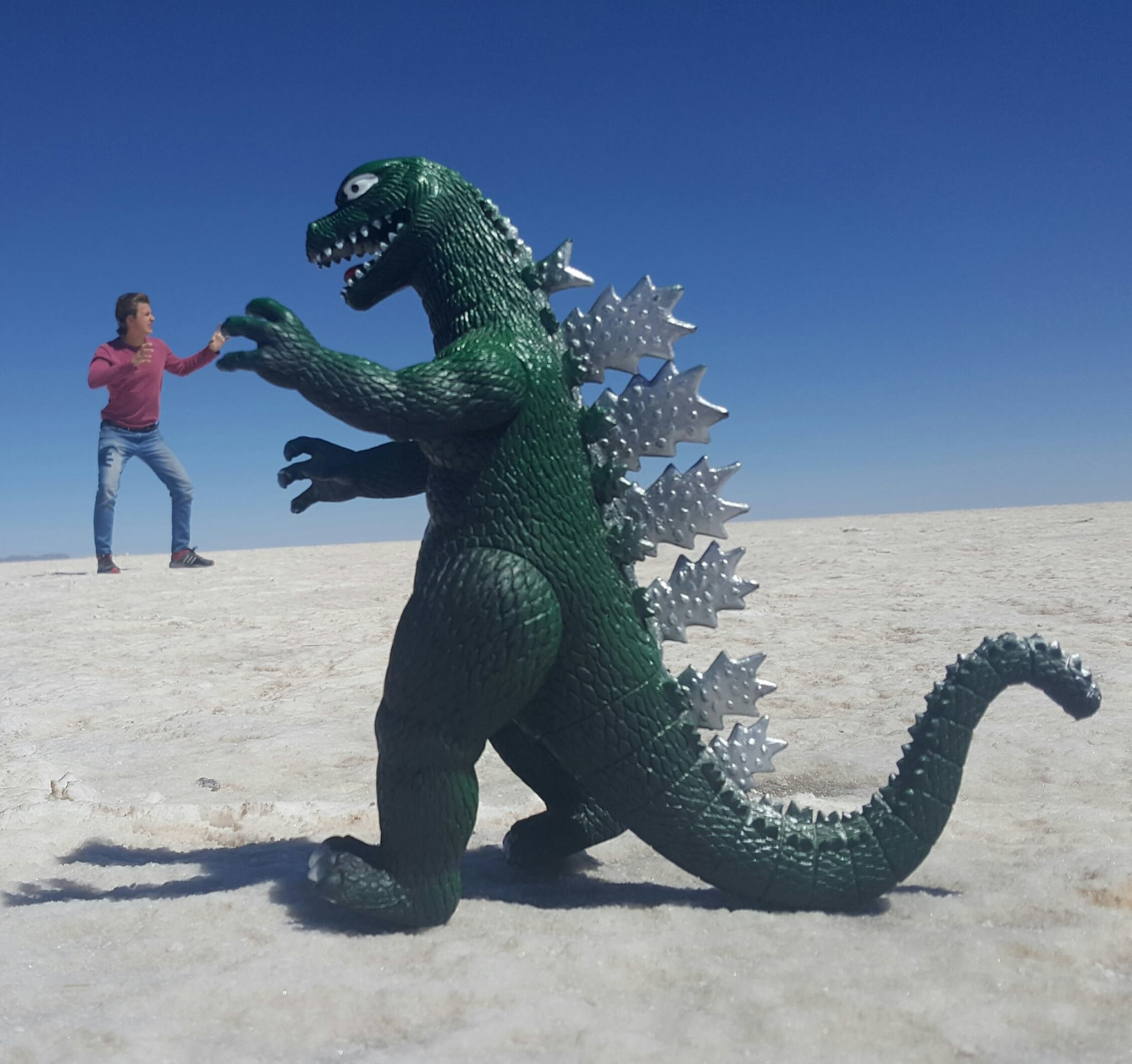 Fun on the Bolivian salt flats 2, South America