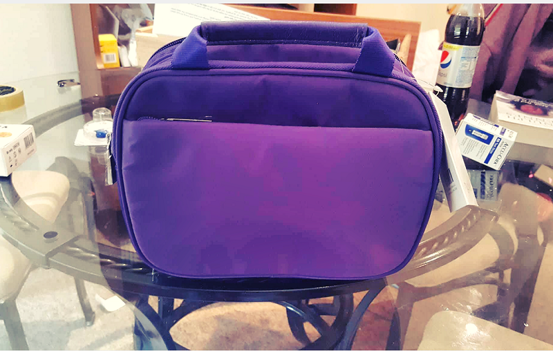 myabetic thompson travel bag purple