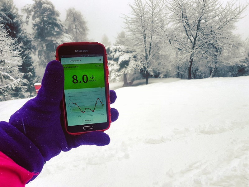 Blood sugars in the cold