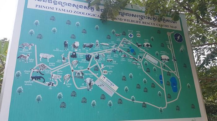 Map of Phnom Tamao Wildlife Rescue Center (Phnom Penh)