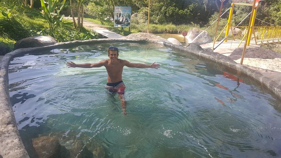 Hot springs at Yang Bay Falls, Nha Trang