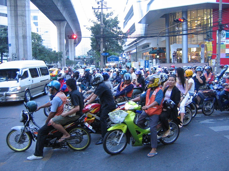 Mopeds in Thailand, bangkok
