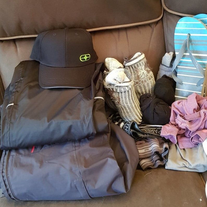 My clothes for the Camino de Santiago