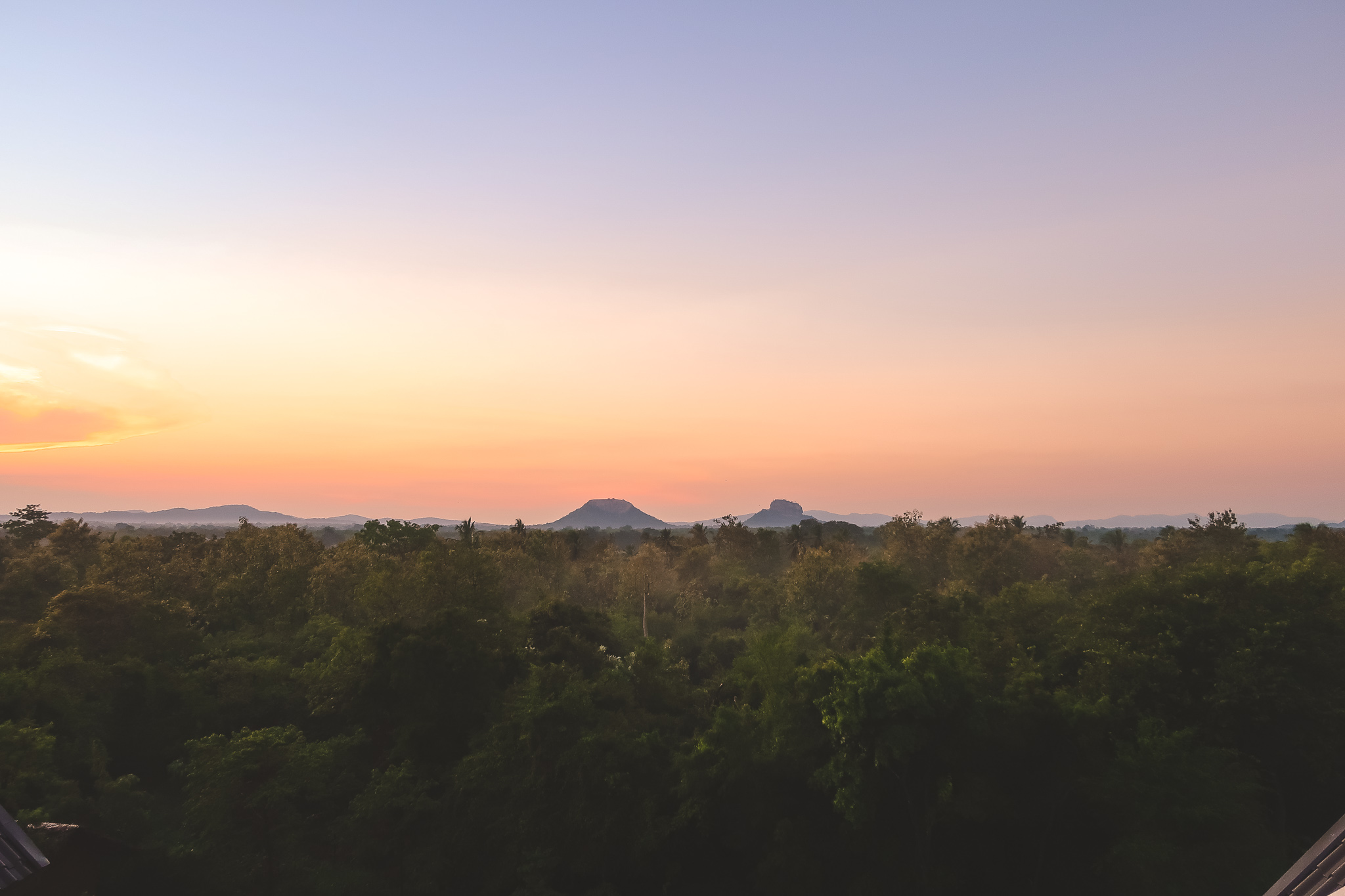 Morning view of Sigiriya Rock