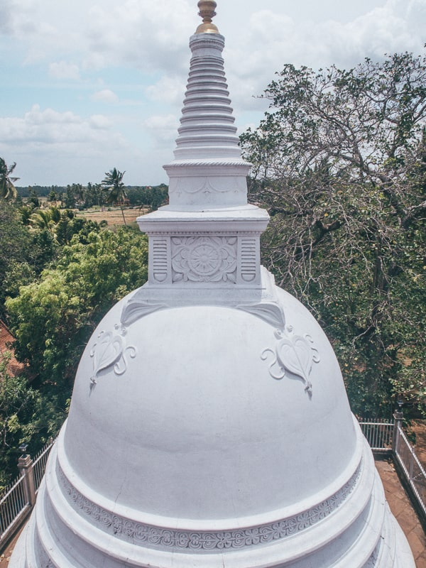 white bell shaped stupa