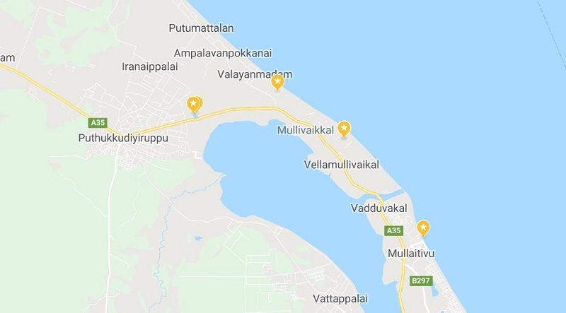 map of best things to do in Mullaitivu