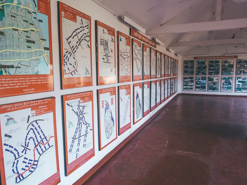 Inside Mullaitivu War Museum