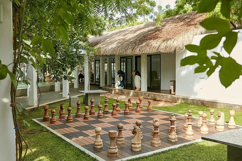 giant chess board at Margosa Bay Resort & Spa