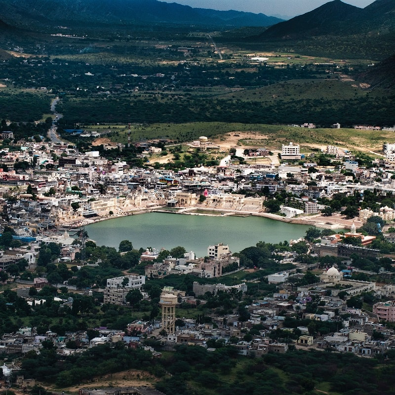 view of pushkar from above